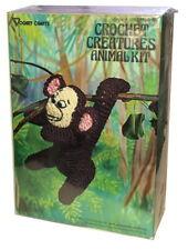 Vintage 1970's Vogart Crafts Crochet Creatures Animal Kit #3102 Monkey Sealed