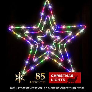 Stockholm Christmas Lights 85 LED Motif Tubelight 3D Star Xmas Indoor Outdoor