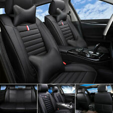 5-Sit Luxury Pu Leather Car Seat Cover Front+Rear Cushions Universal Updated Set (Fits: Saab 9-3)