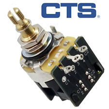 NEW CTS Full Size 250k Pot w/ DPDT Push/Pull Switch for Guitar/Bass AUDIO TAPER