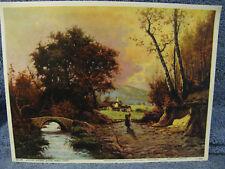Autumn Country Scene Print- Italy