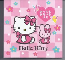Sanrio Hello Kitty Notepad Origami Size