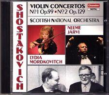 Lydia MORDKOVITCH: SHOSTAKOVICH Violin Concerto 1 2 CD Neeme JÄRVI JARVI Chandos
