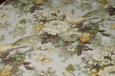 "Beautiful Print Tablecloth - Floral & Bird Design - 38"" x 46 1/2"""