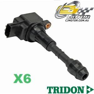 TRIDON IGNITION COIL x6 FOR Nissan Patrol GU 10/01-06/10, 6, 4.8L TB48DE