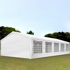 Partyzelt Pavillon 5x10m Festzelt Bierzelt Gartenzelt Vereinszelt Zelt weiß