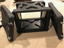 """Skb R8U Roto Rack Case. Never used. 17.6"""" rackable depth, front & rear covers"""