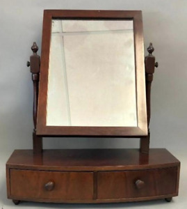 Widdicomb Mahogany Federal Style Table Top Dressing Shaving Mirror w/ Drawer