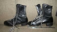 Vintage Men's Ice Skates Black Size 11? Sears Toledo Steel made in England