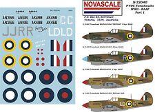 RAAF P-40C Tomahawk WWII Decals 1/32 Scale N32040