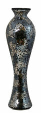 Stunning Tall Black and Gold  Sparkle Mosaic Vase 55.5 cm Tall