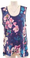 VERA WANG Womens Vest Top Size 18 XL Multicoloured Polyester  CL11