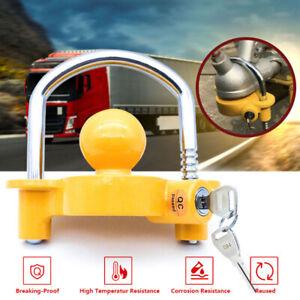 Trailer Parts Coupling Lock Universal Hitch Tow Ball 2 Keys Caravan Antitheft