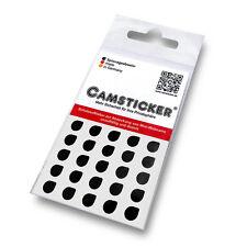 25 CAMSTICKER - schwarz glänzend,  Aufkleber Handy Kamera, Webcam Aufkleber