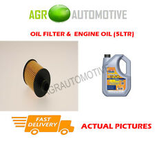 DIESEL OIL FILTER + LL 5W30 ENGINE OIL FOR OPEL ASTRA 1.3 95 BHP 2013-