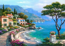 Full Drill 5D Diamond Painting Seaside House Cross Stitch Embroidery Crafts Kit