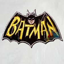 Batman Adam West TV Serie Bat Logo Embroidered Patch 1966 Robin Batmobile Joker