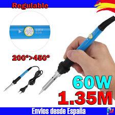 Soldador de estaño Azul 60W 200°>450°C soldadura con regulador de temperatura