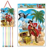 Pirate Pullstring Pinata - 40cm x 30cm - Loot/Party Game Toy Kids Hang