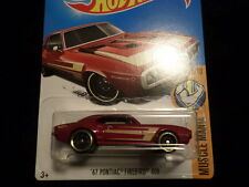 HW HOT WHEELS 2017 HW MUSCLE MANIA #5/10 '67 PONTIAC FIREBIRD 400 RED HOTWHEELS