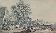 3E FETE FLAMANDE. GRAVURE. GRAVÉ JP LE BAS, D'APRÉS DAVID  TENIENS. FRANCE XVIII
