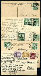 Lettland Postkarten Lot