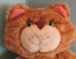"Stuffed Plush  Avon Orange tabby cat kitten 13"""