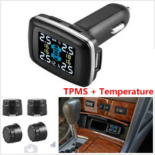 TPMS Wireless Tyre Pressure Monitoring System With LCD Monitor & 4X Tire Sensors