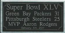 Super Bowl 45 engraving, Green Bay Packers
