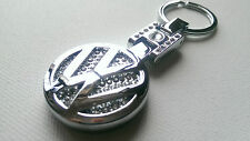 VW STAINLESS STEEL ENAMEL KEYRING KEYCHAIN GOLF GTI GTD R TDI POLO T4 T5 CAMPER