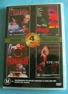 4 HORROR COLLECTION DVD The Terror The Amityville Curse Howling III + IV NEW