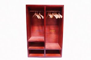"""Wooden Furniture Clothes Cabinet Wardrobe For 1/6 12"""" Action Figure Barbie Doll"""