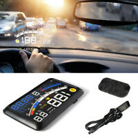 F4 Car HUD Head Up Display HD Speed Warning Projector OBD2&EUOBD Speedometer