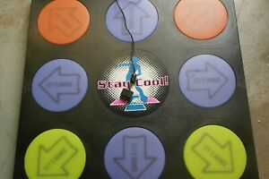 Playstation PS1 PS2 Solid Hard Dance Mat Arcade Light Up Rare Retro Working