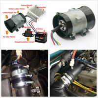 35000rpm 210W Car Electric Turbine Power Turbo Charger Bold Lines+Controller Kit