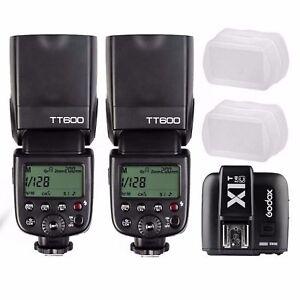 Godox TT600 2.4G TTL Wireless Speedlite Flash For Canon  Kit + X1T-C Transmitter