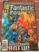 Marvel Fantastic Four Vol 3 #1 Jan 1998 Legend Begins Anew! NM Collector's 1st