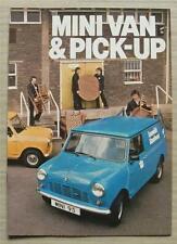 MINI VAN & PICK UP Sales Brochure Dec 1979-80 #3412/B AUSTIN MORRIS