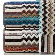 Missoni Home set of 2 Paul zigzag multi color chevron bath towels New w/o Tags