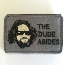 The Big Lebowski The Dude Abides USA Military Army Tactical Morale Badge Patch