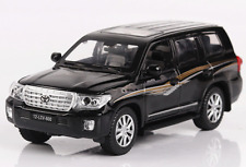 DIECAST METAL 1:32 MODEL CAR TOYOTA LAND CRUISER V8 SOUND & LIGHT PULL BACK