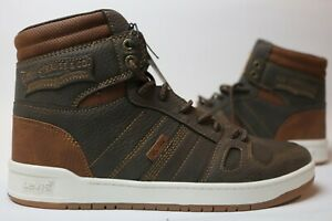 Levi's Men's 520-BB-HI-X Sneaker Shoes High Top Brown/Tan Size 9 New No Box