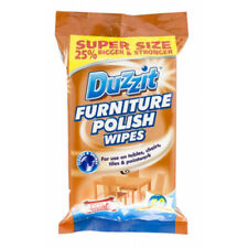 Duzzit Furniture Polish Cleaning Wipes Tables Chairs Desk Tiles Pack of 50