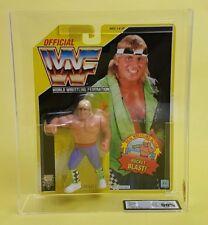 VINTAGE ☆ Owen Hart UKG GRADAZIONE 90% Oro WWF HASBRO Figura ☆ MOC WWE Serie 7 90s