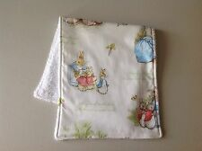 Handmade Baby Burp Cloth Beatrix Potter / Peter Rabbit Print