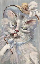 More details for   m. boulanger  lady cat with feathered hat & pince-nez