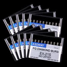 100Box Dental Diamond Burs Handpiece Abrade Crown Cavity Preparation AZDENT