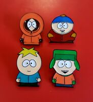 Set of 4 x South Park Enamel Pins Kyle Kenny Eric Cartman Butters