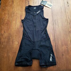 2XU Women's Medium Trisuit Black Sleeveless One-Piece Triathlon Active Suit M