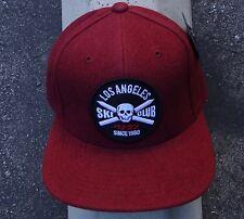 New The Hundreds Skate Club Burgundy Mens Strap Snapback Hat One Size